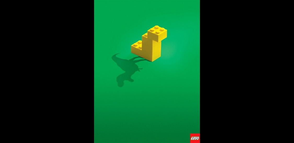 the lego ad Lego creativity is not limited to only building amazing structures, or stop motion movies, or even recreating music album covers and movie posters, it even extends to advertising as with plastic bricks, lego can take the simplest of concepts and make a powerful, intelligent, and often witty statement.